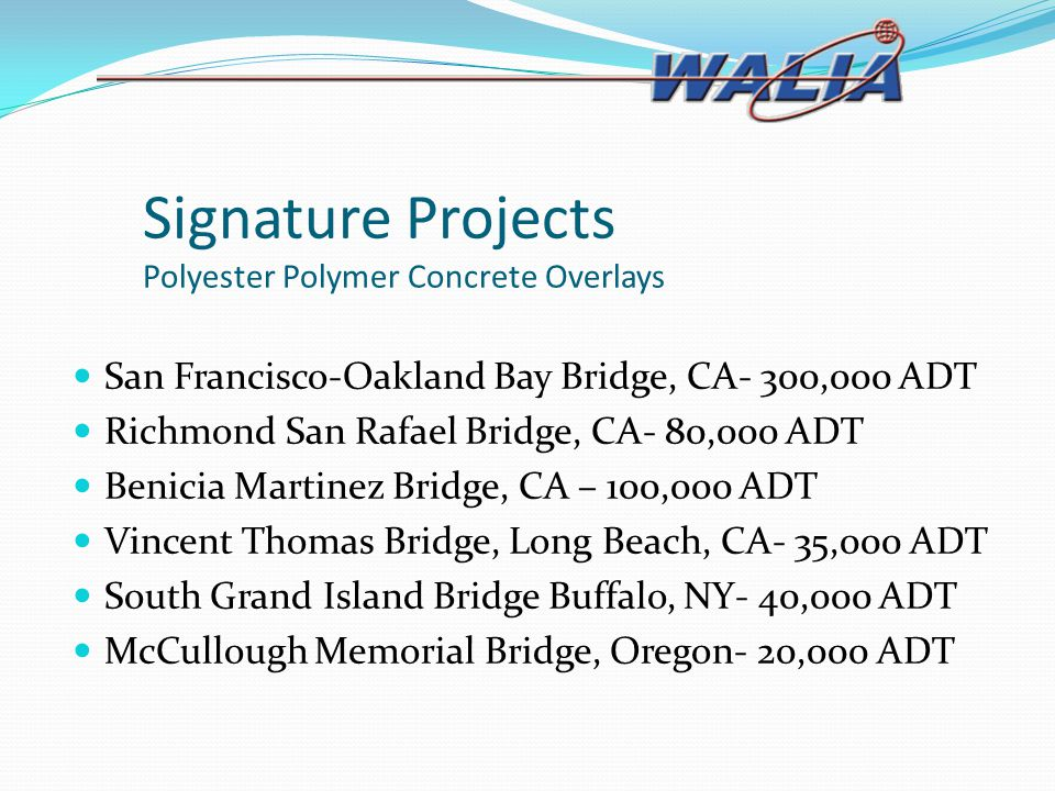 Signature Projects Polyester Polymer Concrete Overlays