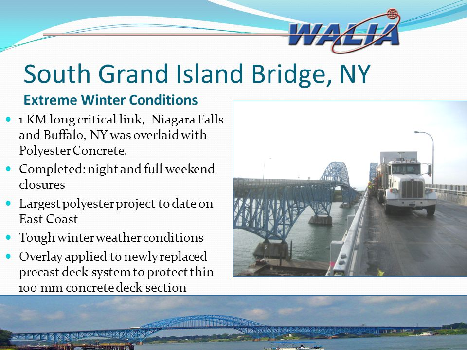 South Grand Island Bridge, NY Extreme Winter Conditions