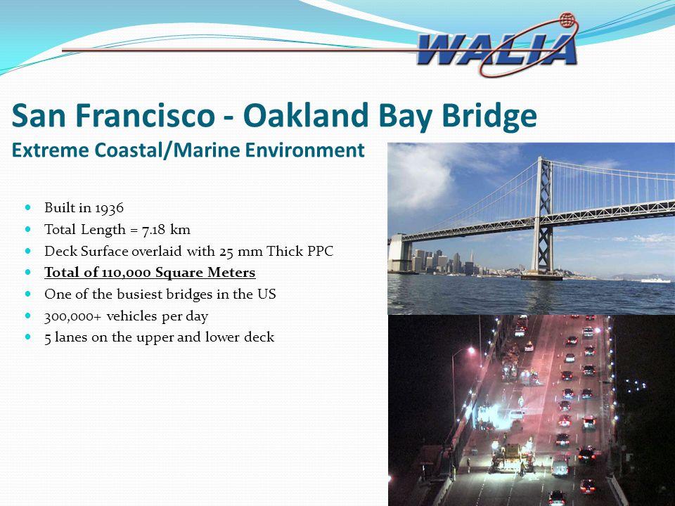 San Francisco - Oakland Bay Bridge Extreme Coastal/Marine Environment