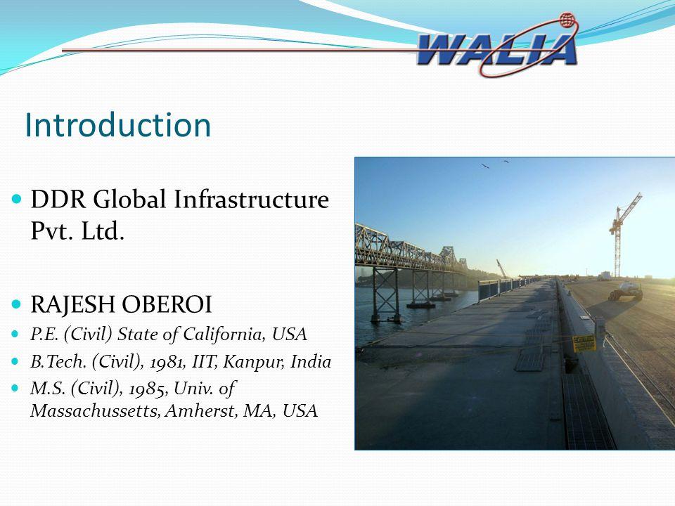Introduction DDR Global Infrastructure Pvt. Ltd. RAJESH OBEROI