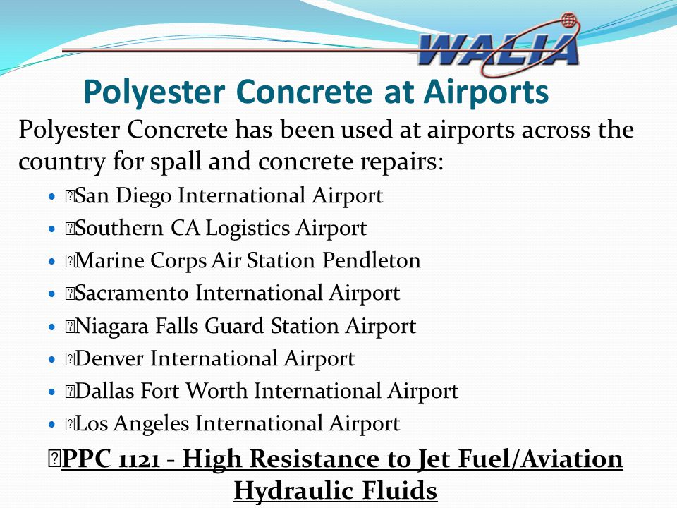 Polyester Concrete at Airports