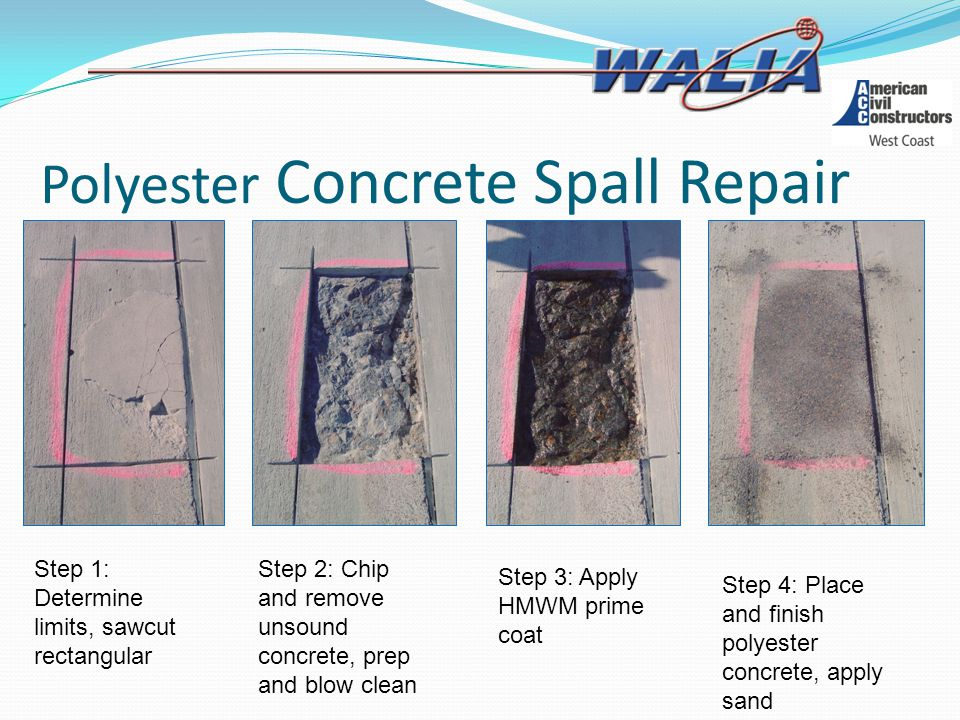 Polyester Concrete Spall Repair