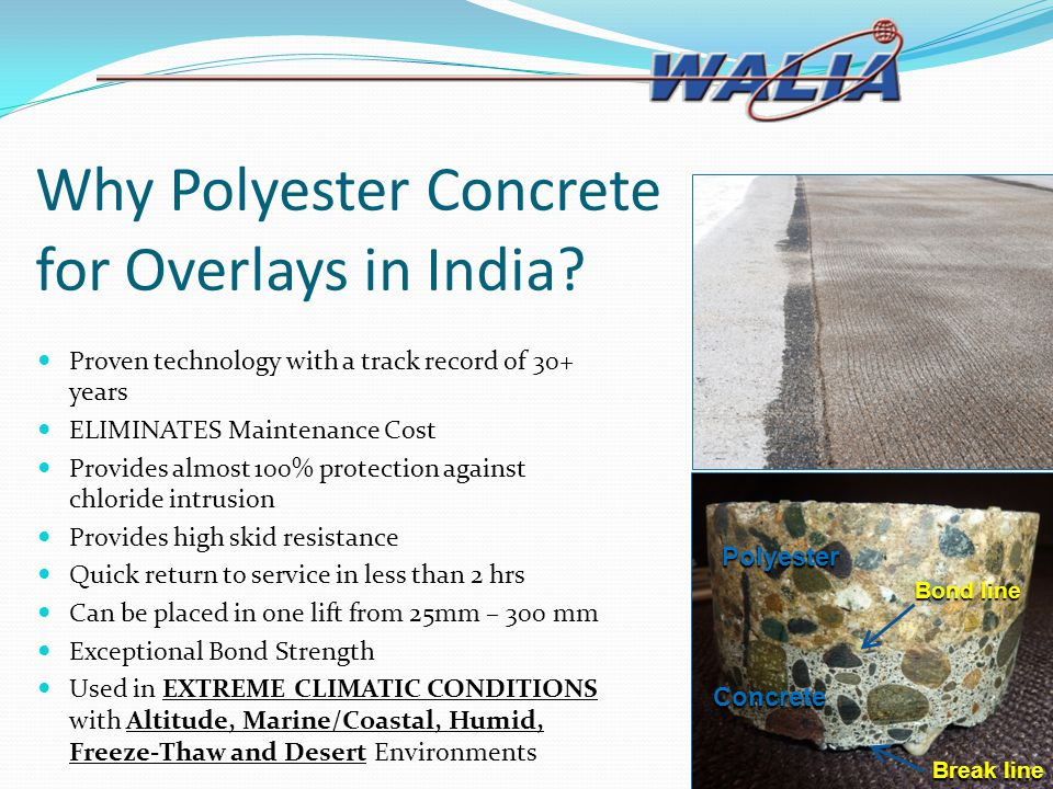 Why Polyester Concrete for Overlays in India