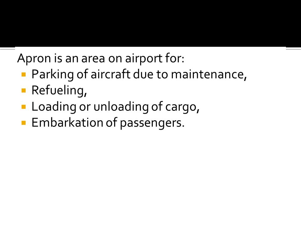 Apron is an area on airport for: