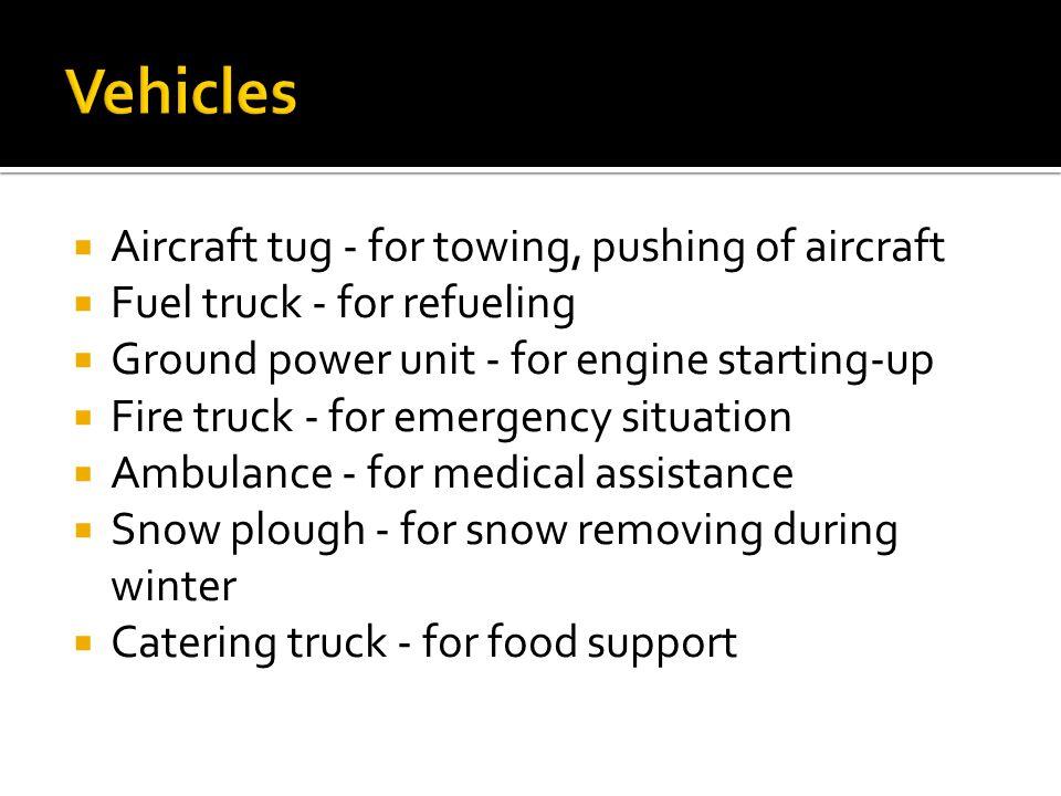 Vehicles Aircraft tug - for towing, pushing of aircraft