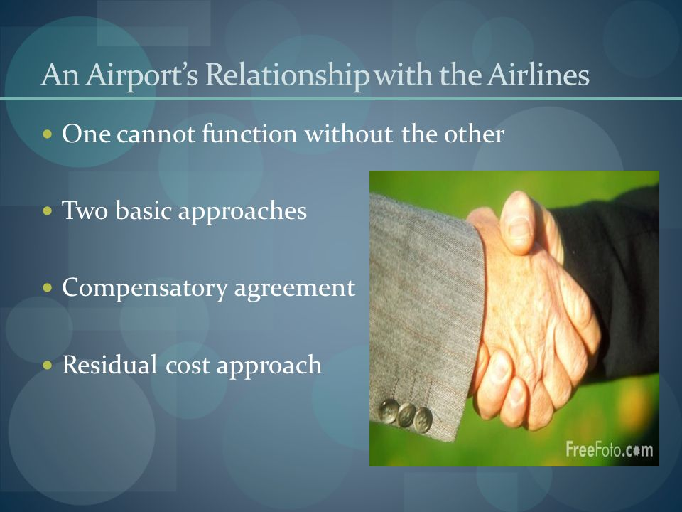 An Airport's Relationship with the Airlines