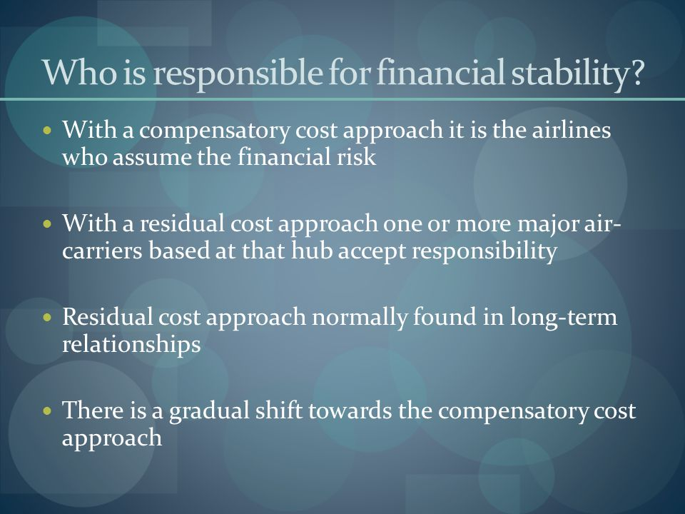 Who is responsible for financial stability
