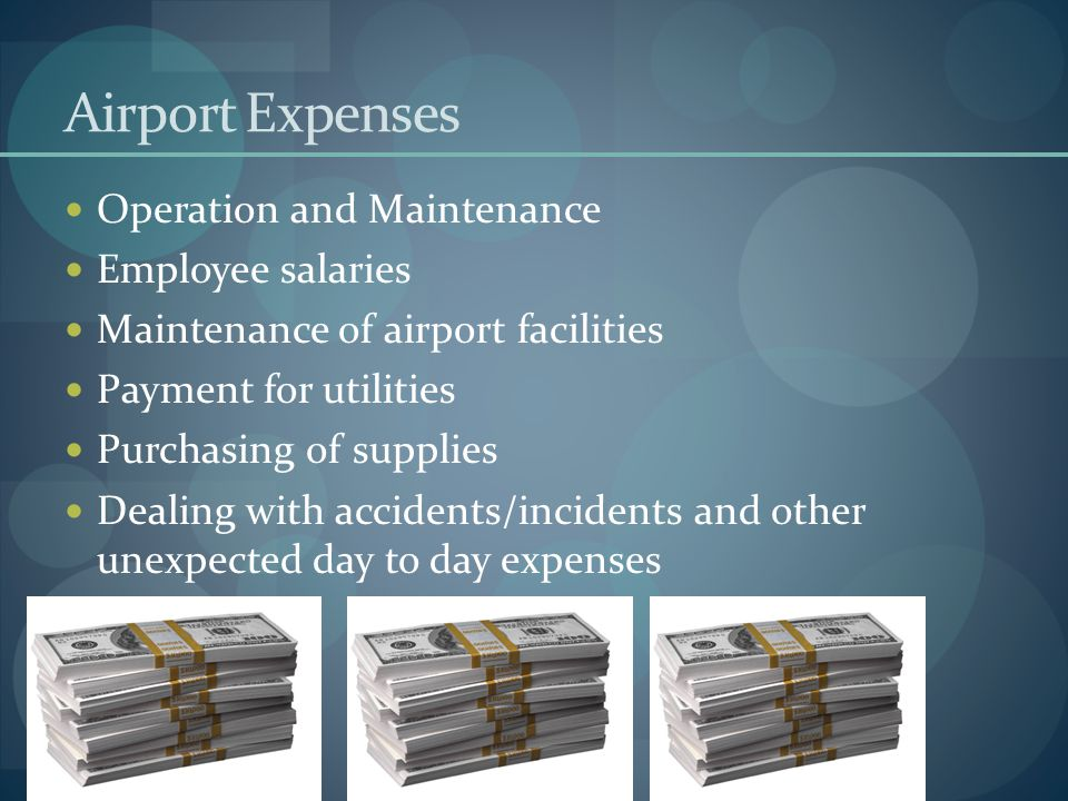 Airport Expenses Operation and Maintenance Employee salaries
