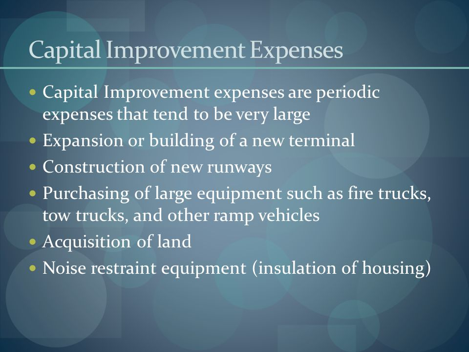 Capital Improvement Expenses