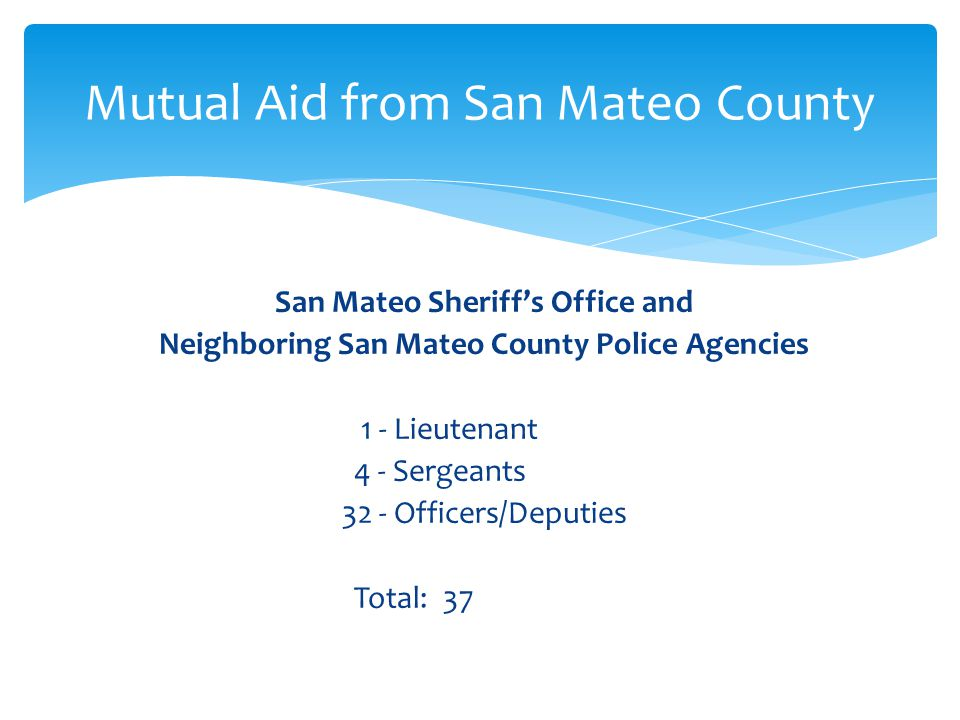Mutual Aid from San Mateo County