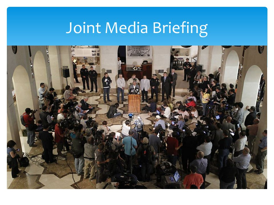 Joint Media Briefing The Museum was used for the Press briefings