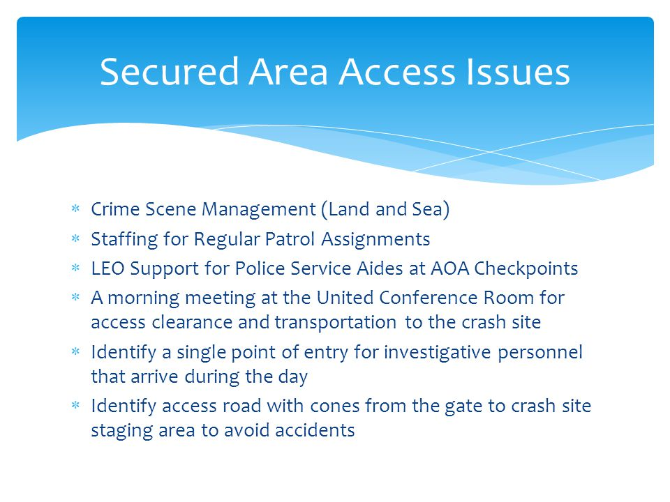 Secured Area Access Issues