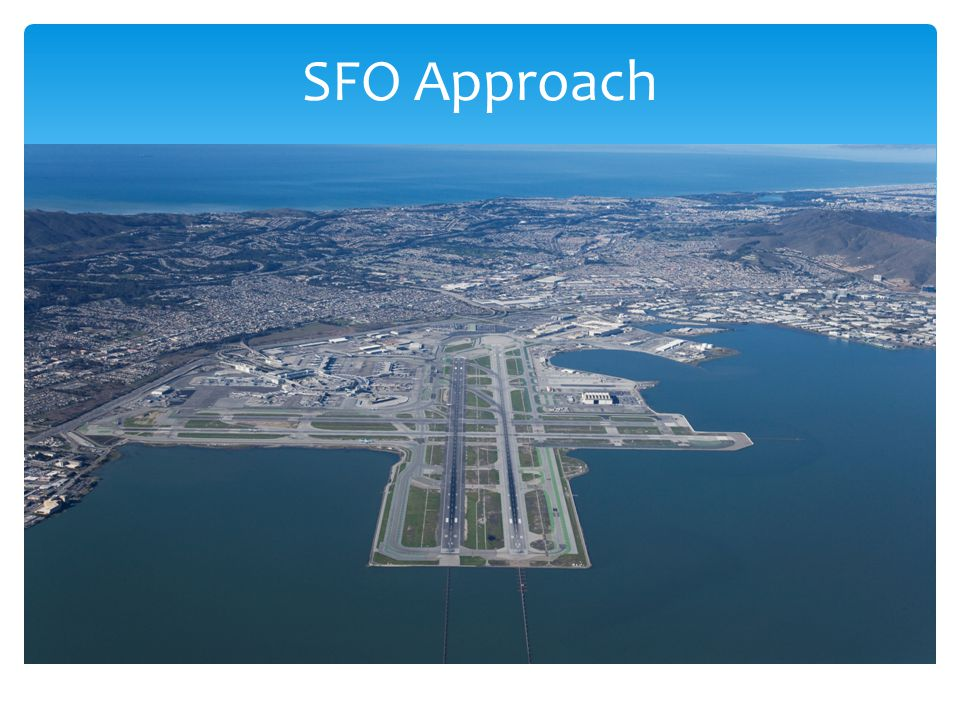 SFO Approach The approach 28L and 28R Parallel runways
