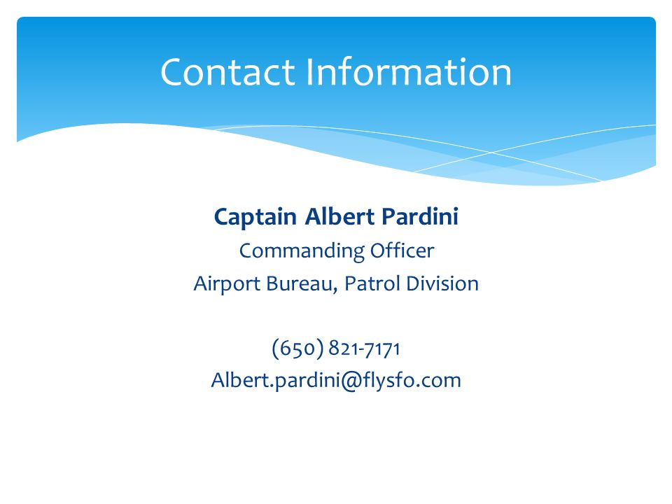 Captain Albert Pardini
