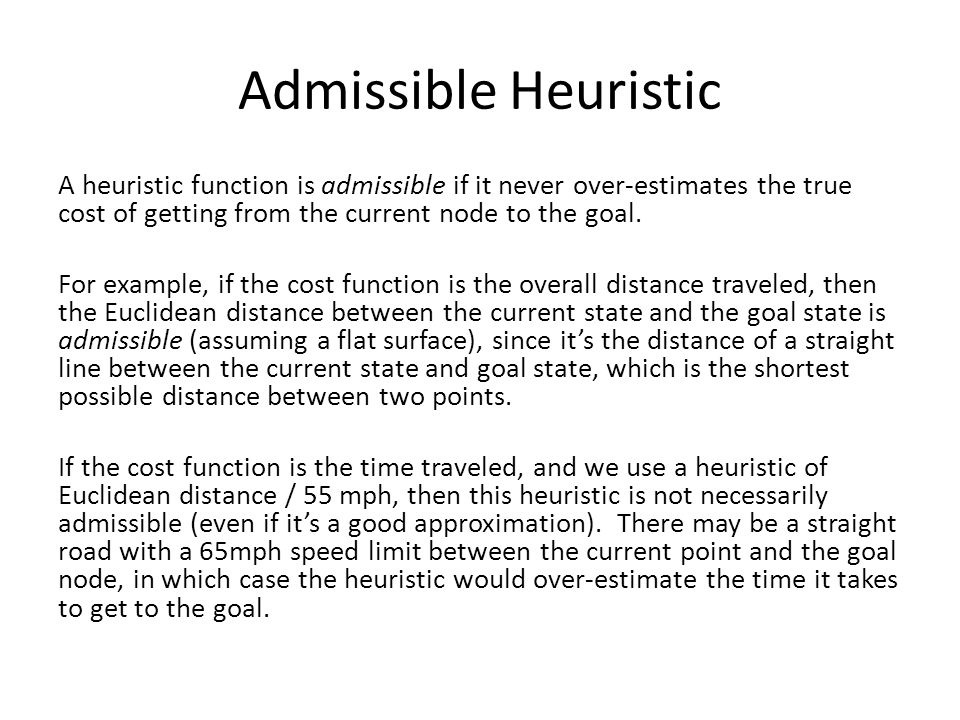 Admissible Heuristic