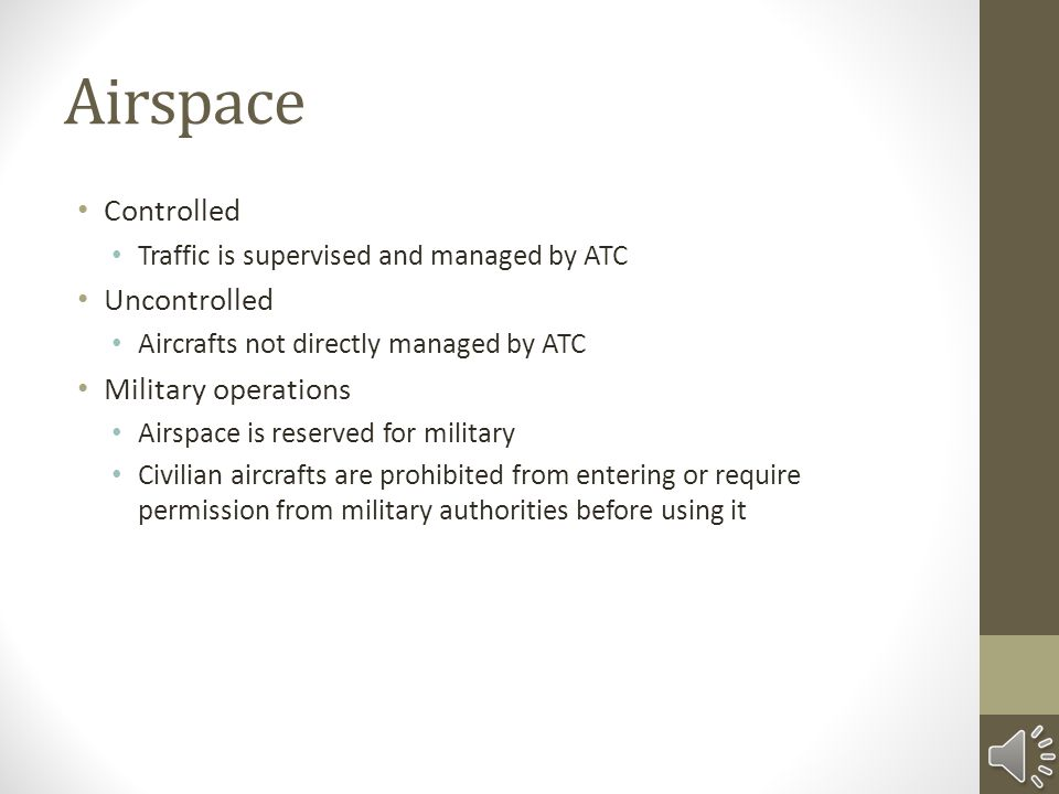 Airspace Controlled Uncontrolled Military operations