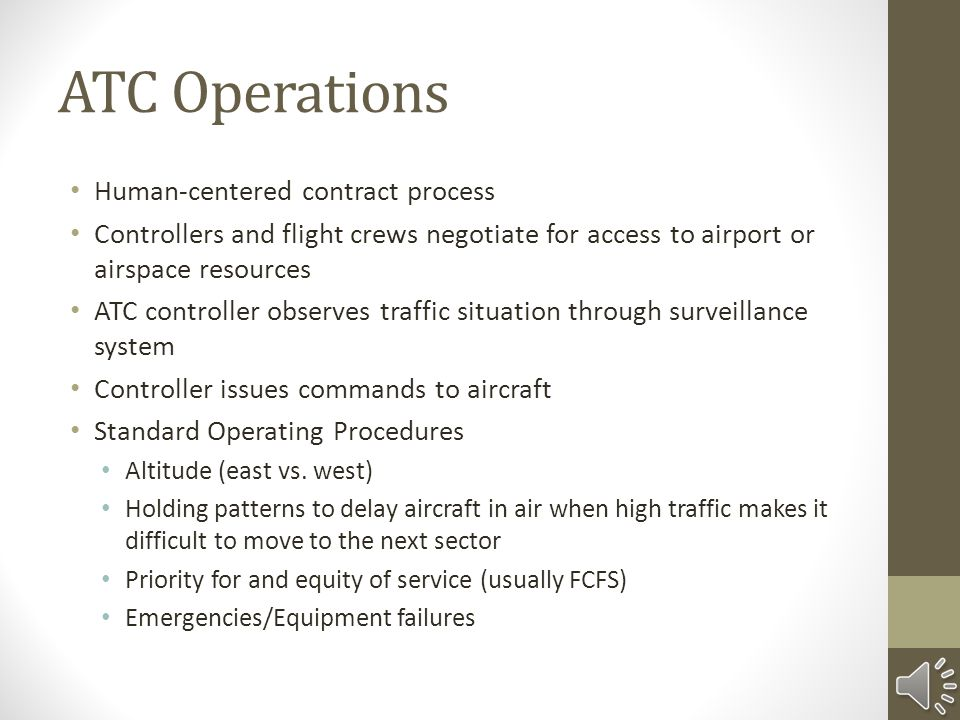 ATC Operations Human-centered contract process