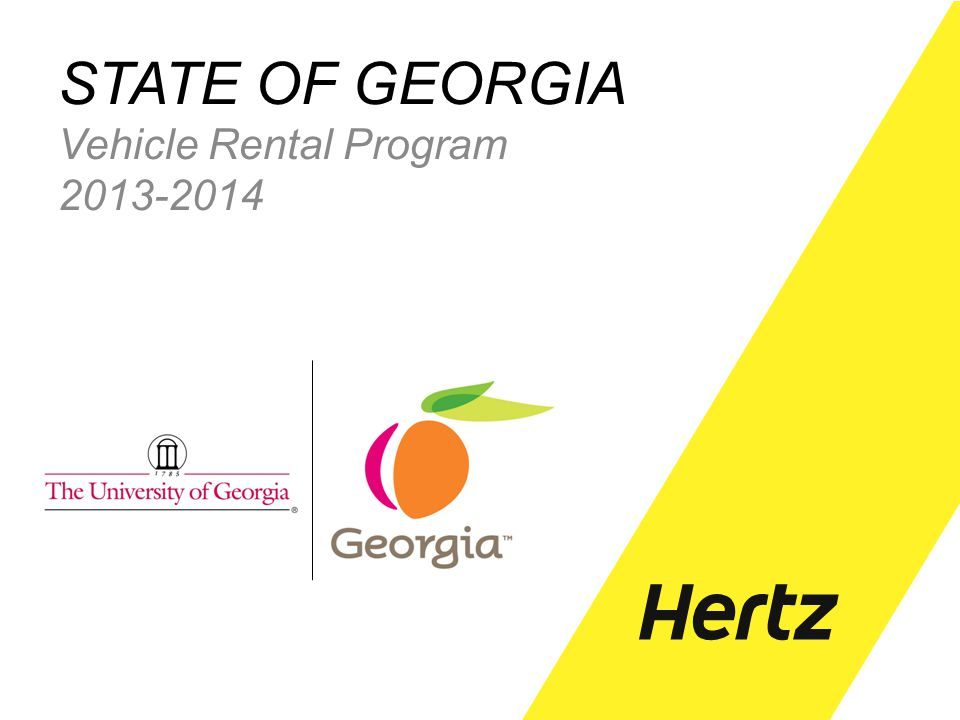 STATE OF GEORGIA Vehicle Rental Program