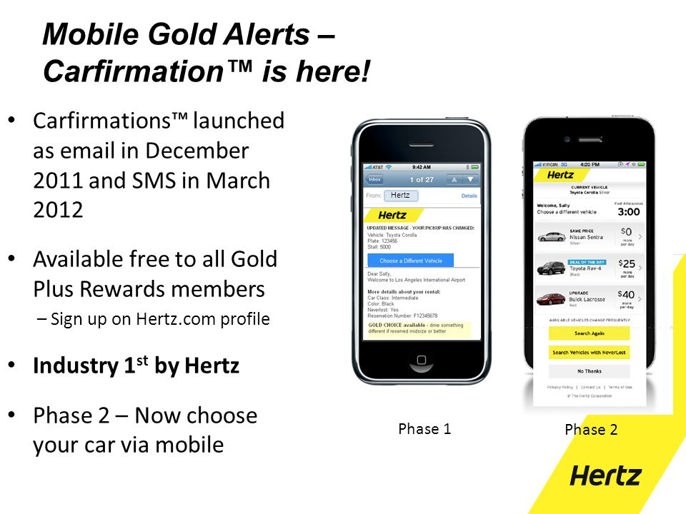 Mobile Gold Alerts – Carfirmation™ is here!