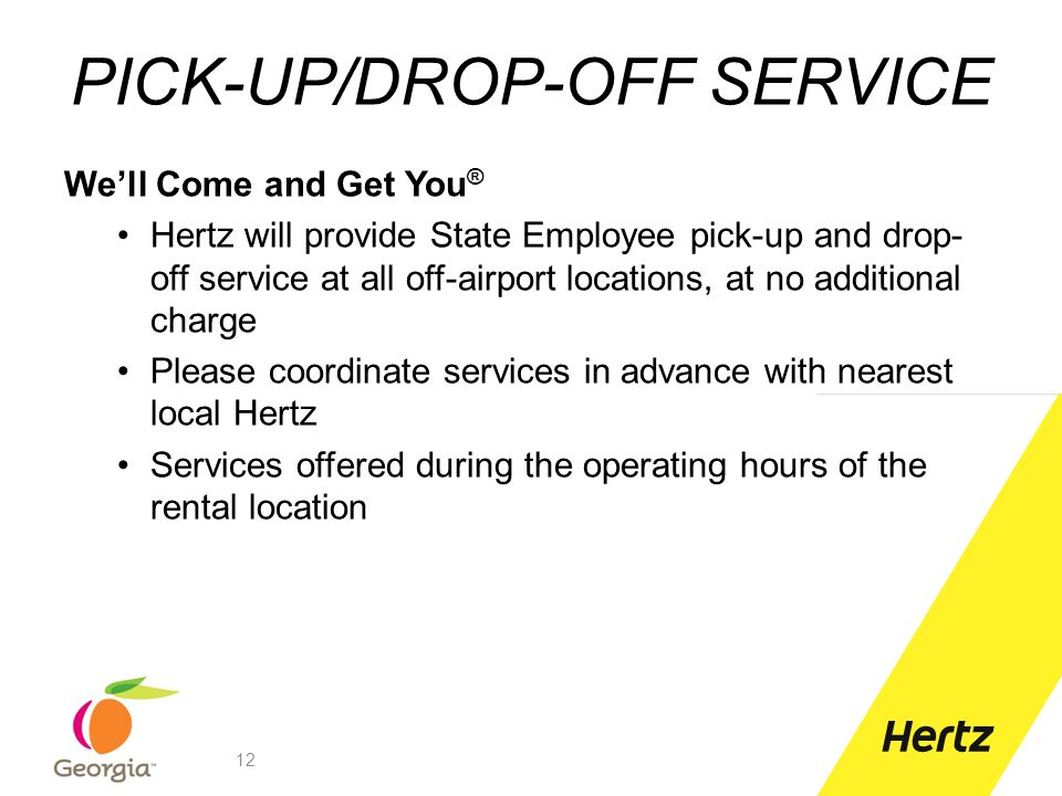 PICK-UP/DROP-OFF SERVICE