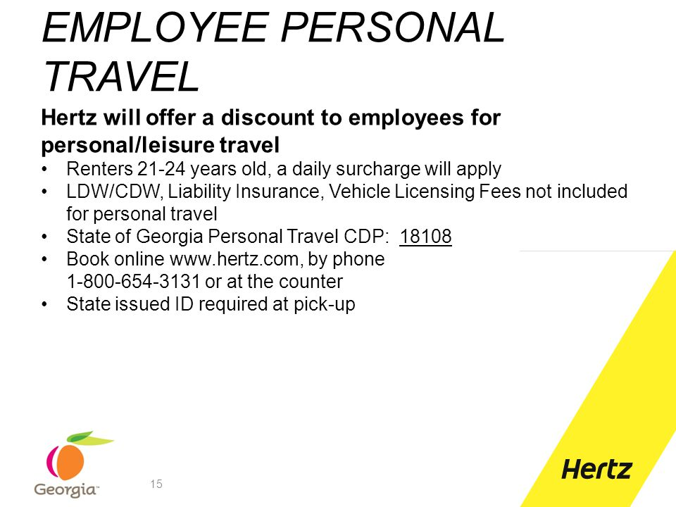 EMPLOYEE PERSONAL TRAVEL