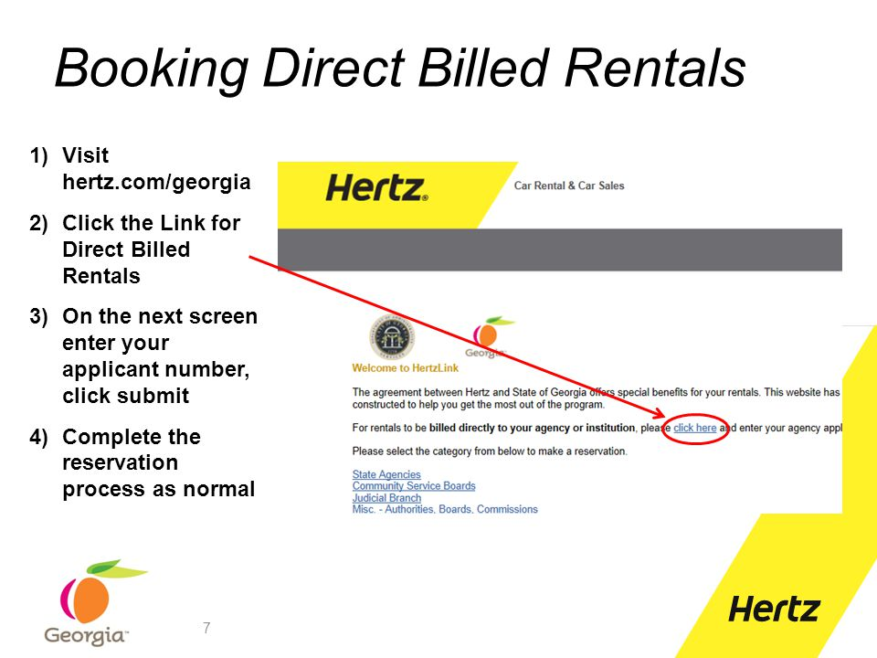 Booking Direct Billed Rentals