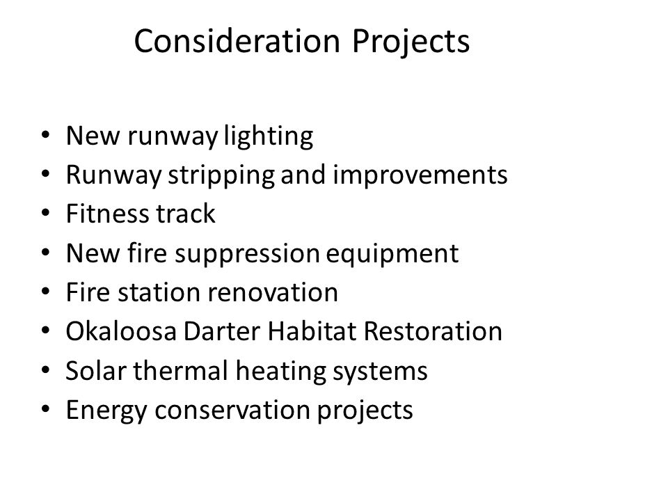 Consideration Projects