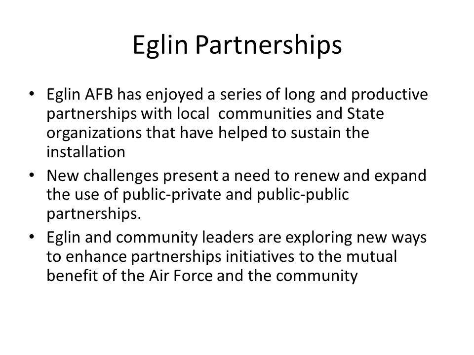 Eglin Partnerships