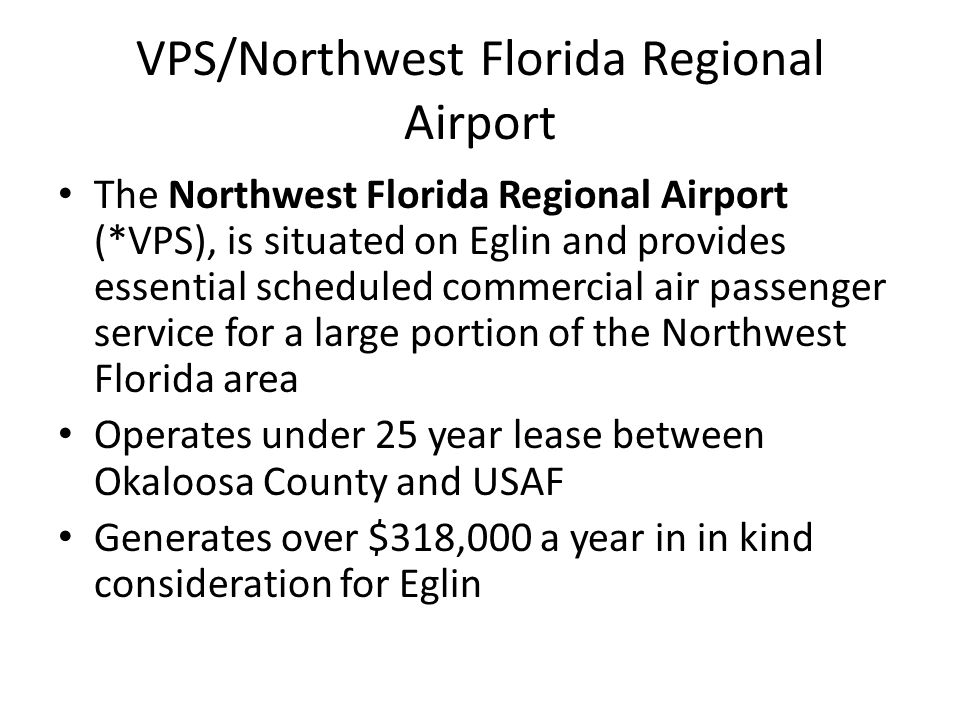 VPS/Northwest Florida Regional Airport