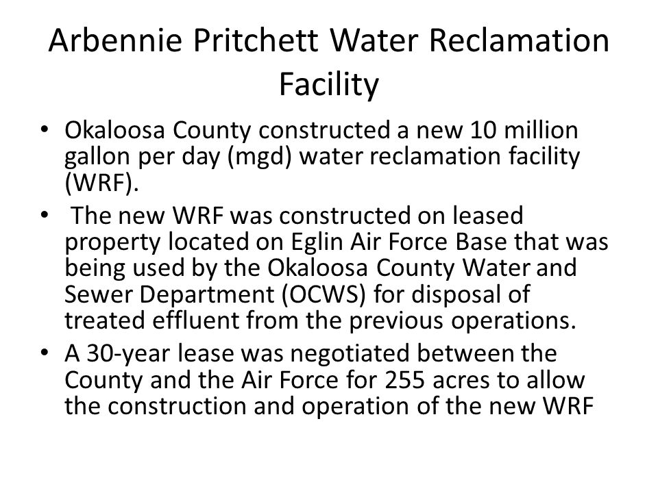 Arbennie Pritchett Water Reclamation Facility
