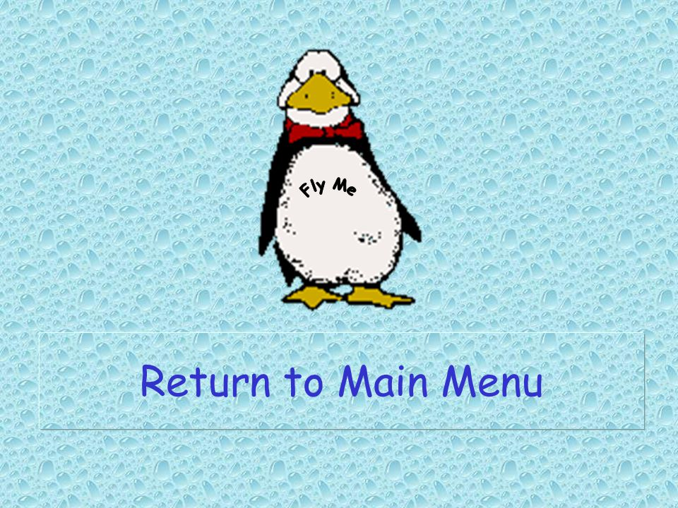 Fly Me Return to Main Menu
