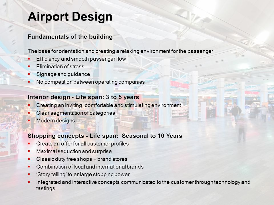 Airport Design Fundamentals of the building