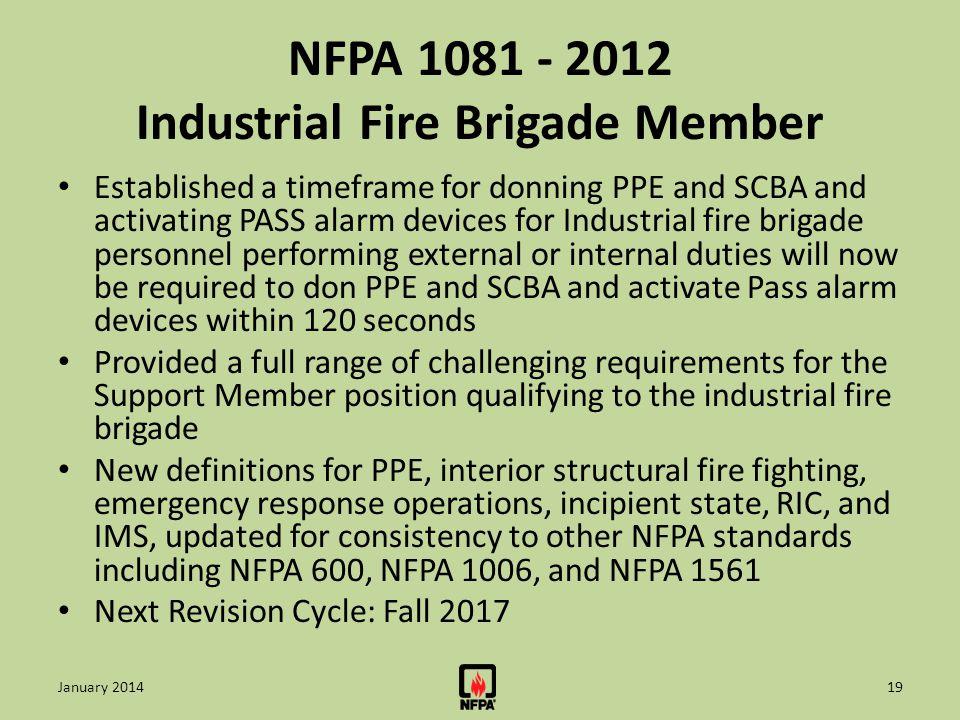 NFPA 1081 - 2012 Industrial Fire Brigade Member