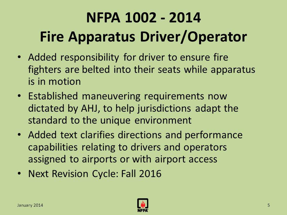 NFPA 1002 - 2014 Fire Apparatus Driver/Operator