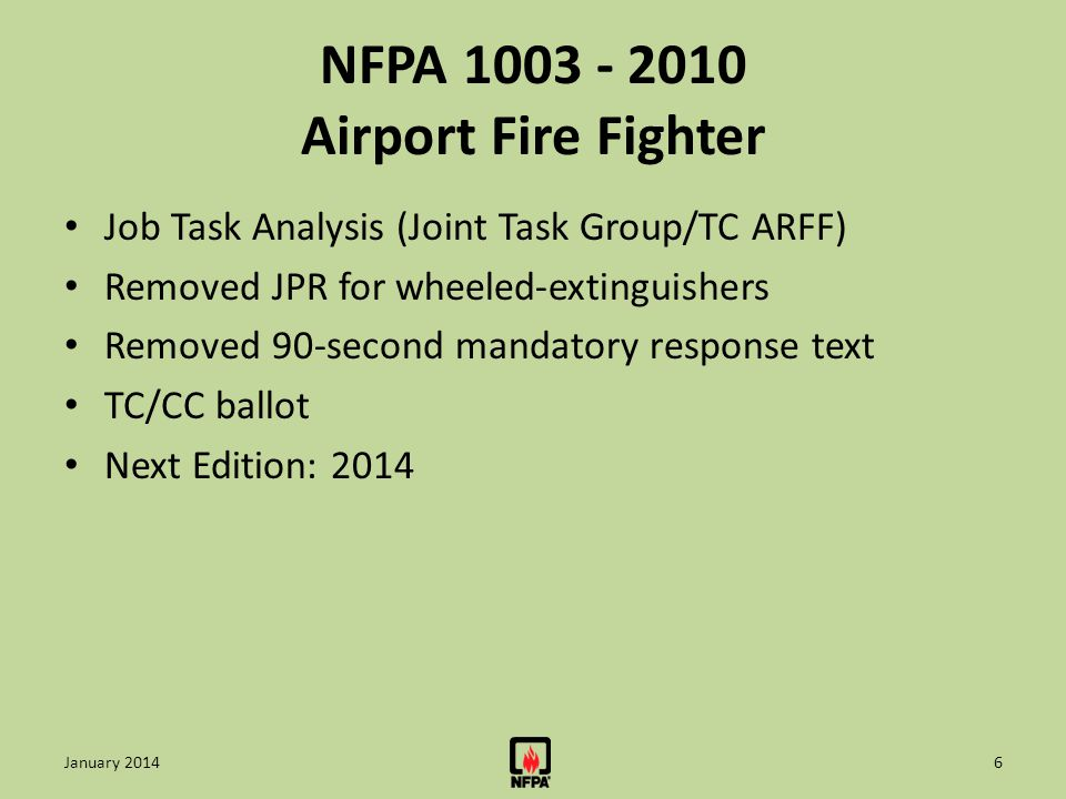 NFPA 1003 - 2010 Airport Fire Fighter