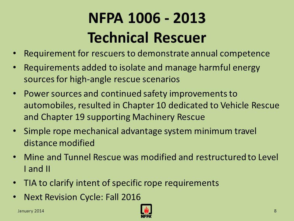 NFPA 1006 - 2013 Technical Rescuer
