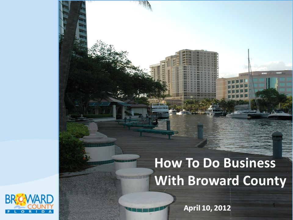 How To Do Business With Broward County