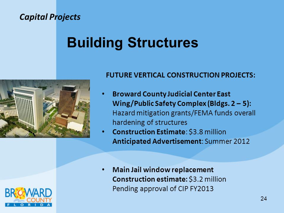 FUTURE VERTICAL CONSTRUCTION PROJECTS: