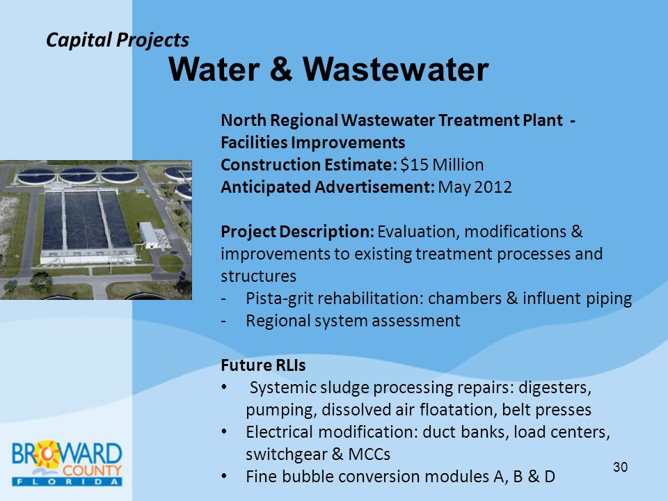 Water & Wastewater Capital Projects