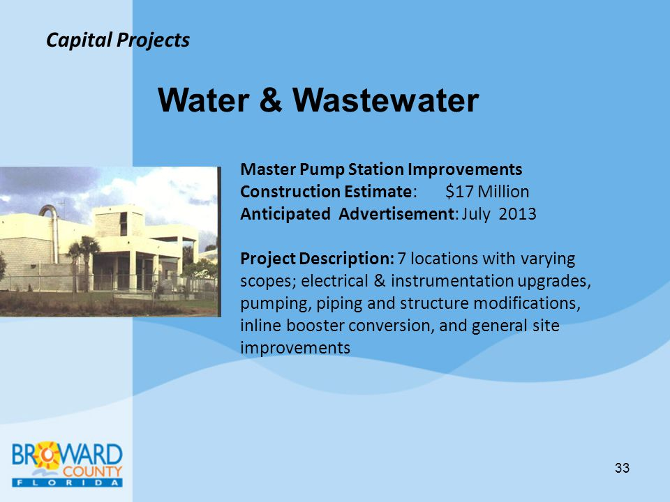 Water & Wastewater Capital Projects Master Pump Station Improvements