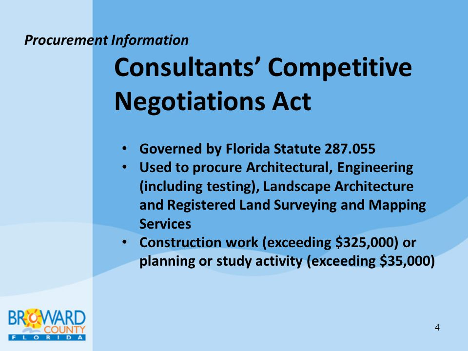Consultants' Competitive Negotiations Act