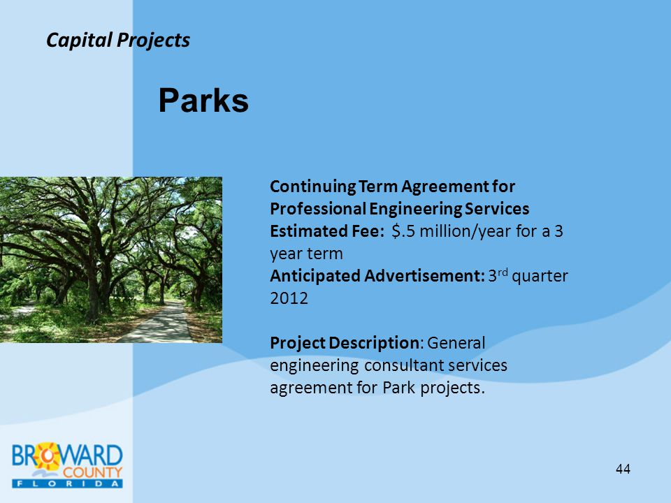 Parks Capital Projects
