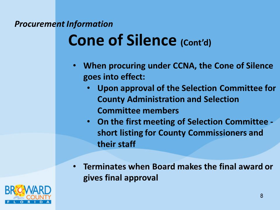 Cone of Silence (Cont'd)