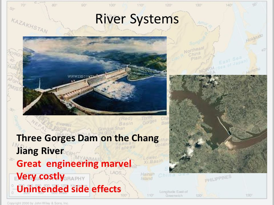 River Systems Three Gorges Dam on the Chang Jiang River