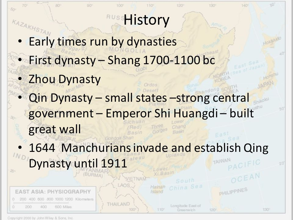 History Early times run by dynasties