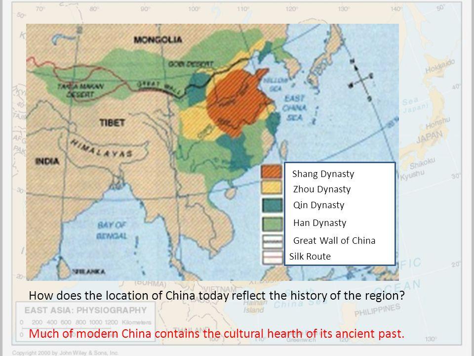 Shang Dynasty Zhou Dynasty. Qin Dynasty. Han Dynasty. Great Wall of China. Silk Route.