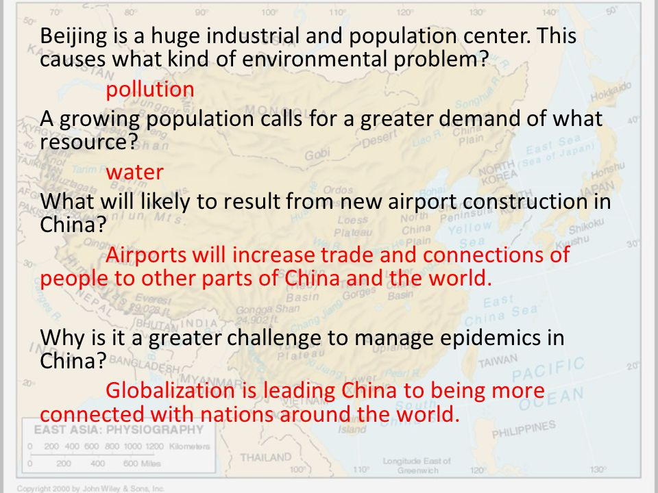 Beijing is a huge industrial and population center