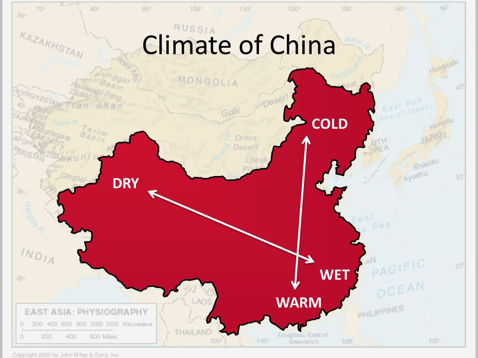 Climate of China COLD DRY WET WARM