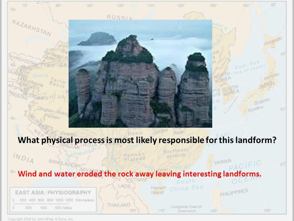 What physical process is most likely responsible for this landform