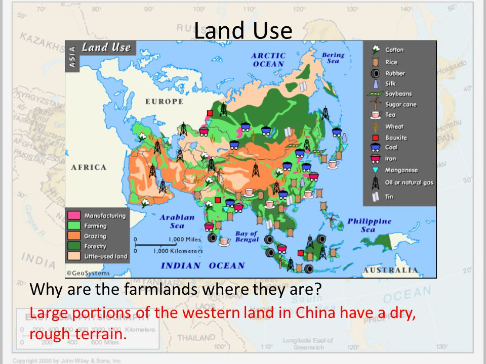 Land Use Why are the farmlands where they are